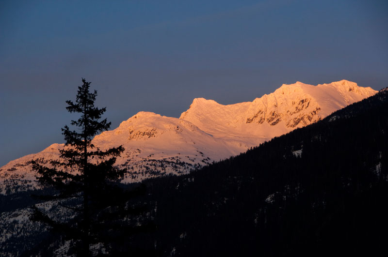 Later Sunset Means More Time to Enjoy the Alpenglow from WedgeWoods…
